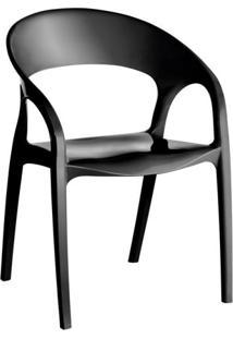 Cadeira De Plástico Glass Preta