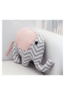 Enfeite Elefante Chevron Rosa