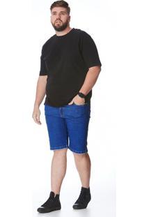Bermuda Jeans Zait Tradicional Kiko Azul Marinho
