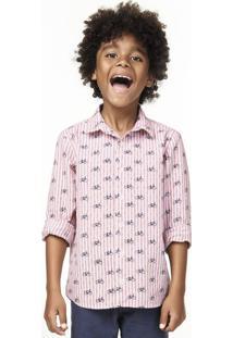 Camisa Infantil Menino Em Tecido De Algodão Puc Premium