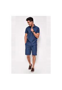 Bermuda Jeans Levo Shop Nando Azul