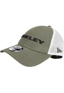 Boné Oakley Aba Curva Mod Heather New Era Masculino - Masculino-Musgo+Branco 96827b409095e