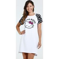4d97bb199 Camisola Feminina Manga Curta Estampa Coração Hello Kitty
