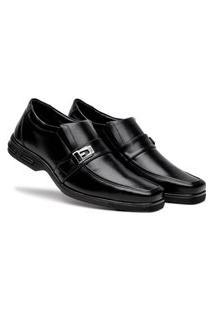 Sapato Masculino Preto Social Básico Palmilha Confort