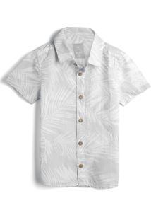 Camisa Hering Kids Menino Folhagem Off-White