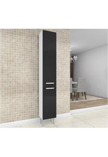Paneleiro Com 2 Portas Natália Preto/Branco - Lc Móveis