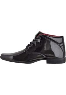 Botinha Social Verniz Cr Shoes Preto