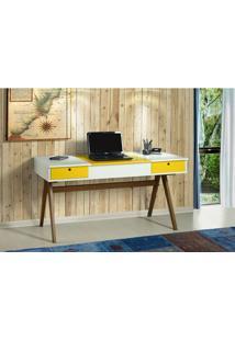 Escrivaninha Ibiza Branco/Amarelo 17119 Sun House