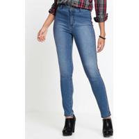 5ca0adc86 Calça Jeans Com Faixa Lateral Azul Médio