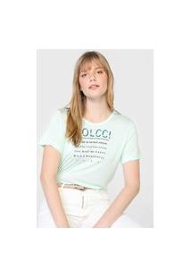 Camiseta Colcci Wonderful Verde