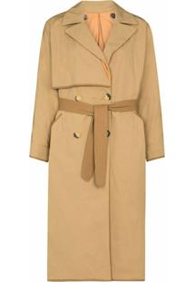 Marfa Stance Trench Coat Midi Dupla Face - Neutro