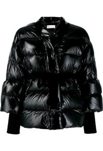 Red Valentino Belted Puffer Jacket - Preto