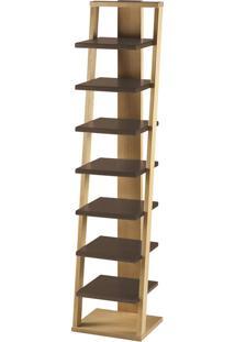 Prateleira Suspensa Stairway 1132 Palha/Marrom Escuro - Maxima