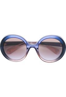 0aa4b2ca5c369 Gucci Eyewear Oversized Round Frame Sunglasses - Azul