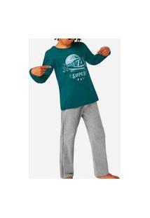 Pijama Malwee 1000077449 Infantil Verde