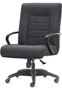 Cadeira New Onix Class Diretor Base Nylon Arcada Preta - 54166 Sun House