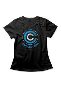 Camiseta Feminina Capsule Corp Preto