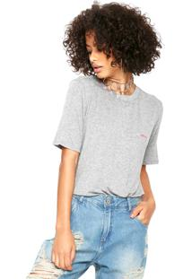 Camiseta My Favorite Thing(S) Bordada Cinza