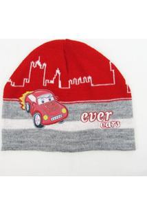 Touca Infantil Masculina Vermelha Carro -P - Masculino-Vermelho