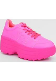 Tênis Feminino Chunky Sneaker Neon Tratorado Zatz