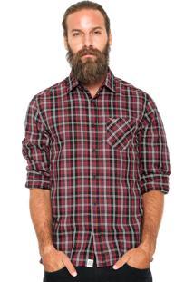 Camisa Triton Xadrez Vinho