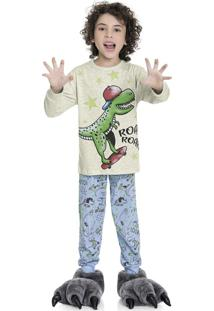 Pijama Dino Bege