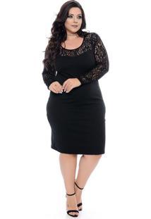 Vestido tubinho preto tamanho grande