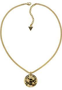 Colar Disco Serpente- Dourado & Preto- 37,5Cm- Gguess