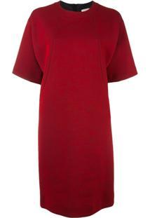 Lanvin Vestido Com Decote Arredondado - Vermelho