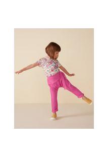 Amaro Feminino Camiseta Infantil Estampada Full Print, Daisy Animal