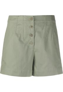 A.P.C. High-Waisted Shorts - Verde