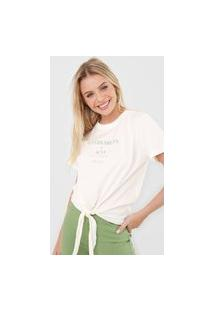 Camiseta Colcci Sustainability Off-White