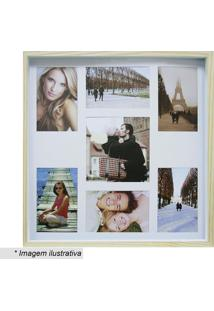 Painel Color Wood Para 7 Fotos 10X15Cm & 20X25Cm- Bege Ckapos
