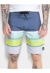 Boardshort Quiksilver Swell Vision Masculino - Masculino-Azul+Amarelo
