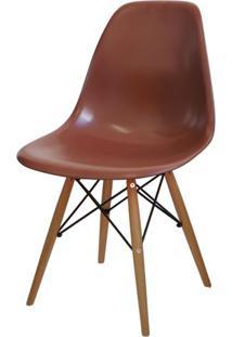 Cadeira Eames Polipropileno Cafe Base Madeira - 14915 - Sun House