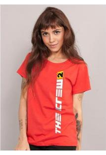 Camiseta Bandup The Crew 2 Logo Vertical - Feminino-Vermelho