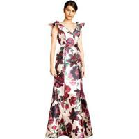 2e25f4eca0 Vestido Longo Izadora Lima Brand Em Zibeline Decote V Feminino - Feminino-Off  White+