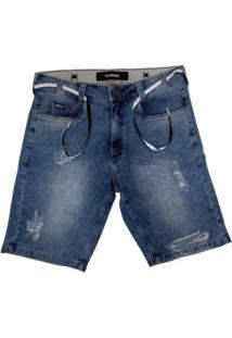 Bermuda Hocks Jeans 21-162 Masculina - Masculino-Azul