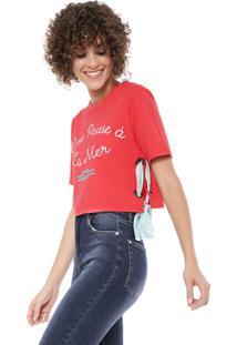 Camiseta Cropped Lez A Lez Lobster Pink
