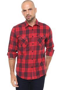 Camisa Broken Rules Reta Xadrez Vermelha