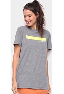 Camiseta Colcci Next Is Now Feminina - Feminino-Grafite