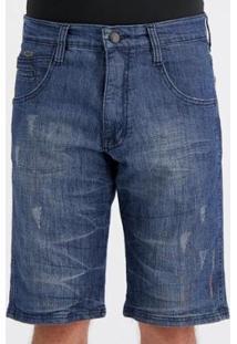 Bermuda Jeans Hd Slide Ocean Masculina - Masculino-Azul