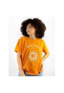 Camiseta Toneh Estampada Sol Laranja Laranja