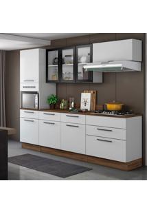 Cozinha Compacta Exclusive 8 Pt 5 Gv Branca E Preta