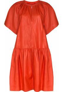 Stand Studio Kaitlyn Drop-Waist Dress - Vermelho