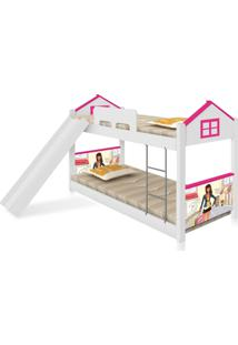 Beliche Baixa Casa Menina Moã§A Com Escorregador Casah - Branco/Rosa - Menina - Dafiti