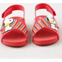 3b018c1bf8 CEA. Sandália Infantil Zaxy Nina Snoopy Vermelha