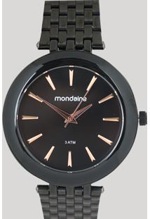 Relógio Analógico Mondaine Feminino - 76559Lpmvpe4 Preto - Único