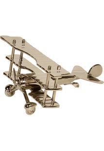Escultura Decorativa De Metal Avião Amur