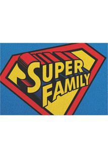 """Capacho """"Super Family""""- Azul & Vermelho- 60X40Cmkapazi"""